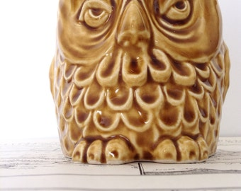 Sylvac Owl Money Box, Number 5106, Made in England, Character Face Owl Money Bank
