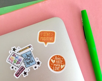 Positive Three Sticker Set