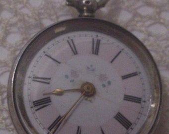 Cuivre silver 800 ladies vintage pocket watch FREE SHIPPING!!