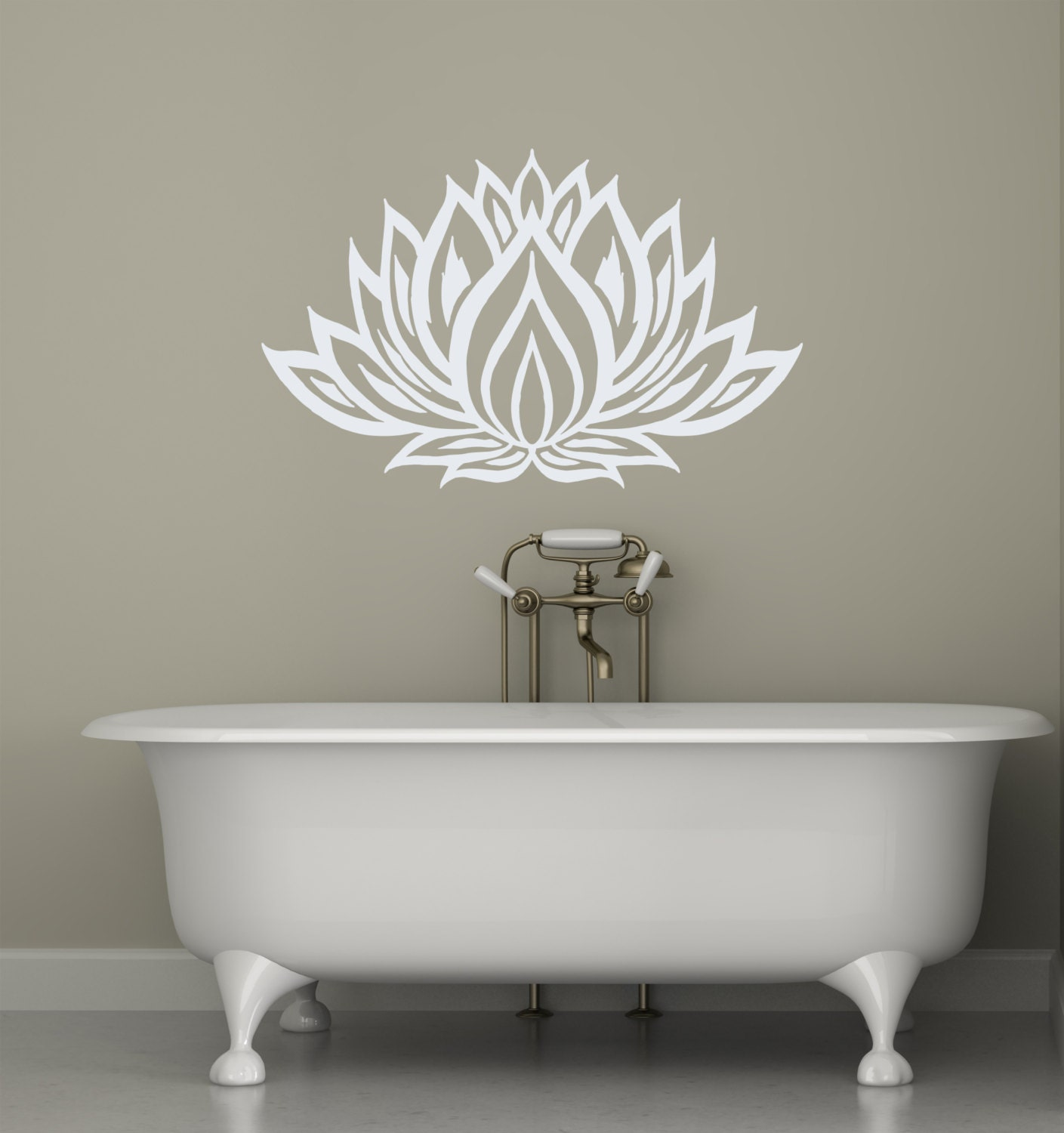Lotus Flower Wall Decals Yoga Vinyl Decal Interior Home