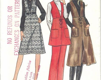 SALE 70s Butterick 6304 Misses' Jumper, Tunic and Pants Sewing Pattern UNCUT