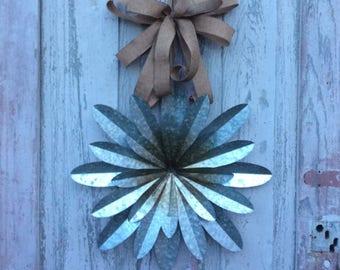 Metal flower door hanger, Front door wreath, Double door wreath, Magnolia Farms Decor, Metal flower door decoration, Flower Wall Decor