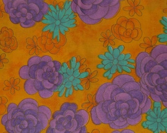 Orange and purple Fabric