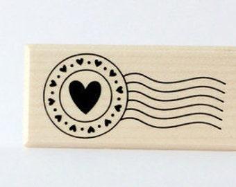 Stamp postmark heart