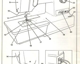 Singer Sewing Machine ORIGINAL MANUAL 10 & 13 Pattern Free Arm Sewing Machines Instructions Part No. 317199-001