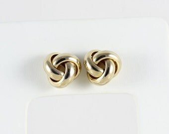 14k Yellow Gold Earrings Stud Earrings Knot Design