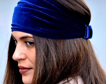 Velvet Turban, Blue Turbans, Running Turban, Yoga Turbands, Boho Turbans, Workout Headbands, Womens Turbans, Womens Turbans, Twist Headbands