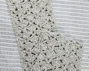 White and Gray Infinity Scarf