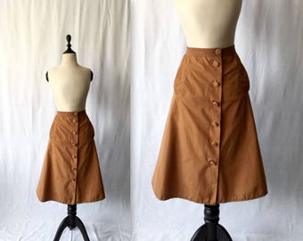 1950s terracotta cotton skirt