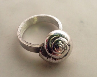 Silver Snail Ring