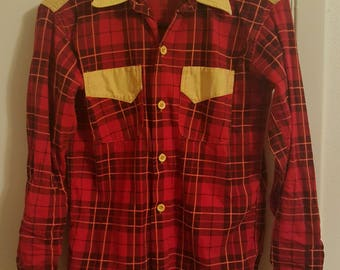 Ladies Size Small Vintage Western Shirt