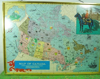 Map Of Canada Etsy - Maps canada
