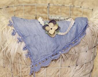 Blue Layering Piece/Wrap And Headband - PHOTO PROP