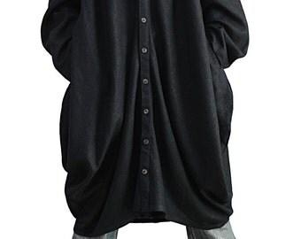 Soft Hemp Loose Long Shirt (BNN-123-01)