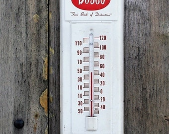 Vintage Advertising Outdoor Thermometer, Bowerston Shale Company Thermometer