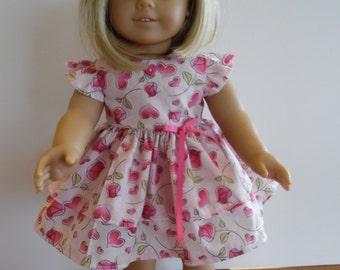 American Girl Pink Valentine Dress