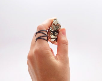 Atom Adjustable Multi-Strap Cuff Ring by Frost Finery