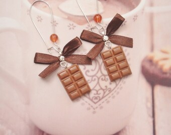 earrings chocolate bar