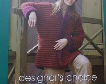 "Elsebeth Lavold Designer's Choice Book Seven the Mellow Tone Collection 63 Pages Measures Approx 8 by 11""  Sweaters for Men and Women"