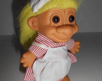 """Vintage Russ Berrie Candy Striper Nurse Troll Doll 5"""""""