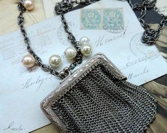 Necklace long vintage, poetic spirit 1900
