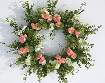 wedding wreath, spring wreath, wedding decor, wreath for spring, wreath, door wreath, wreath spring