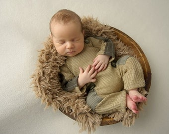 Newborn Boy Overall; Newborn Outfit Prop; Boy Outfit; Baby Props; Khaki; Military Look; Newborn Photo Prop, Photography Prop, Photo Outfit