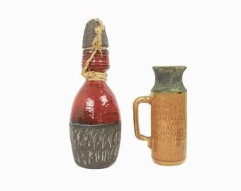 Vorm Keramiek Doetinchem - Dutch pottery - jug and jar - seventies