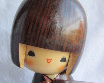 Kokeshi doll, cute, vintage, looks new
