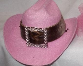Mini Cowboy Hat Pink hat Childs Size