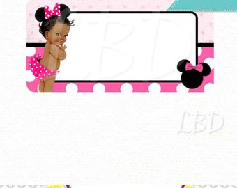 "Minnie Mouse Address Label Printable | 2"" x 4"" Labels 