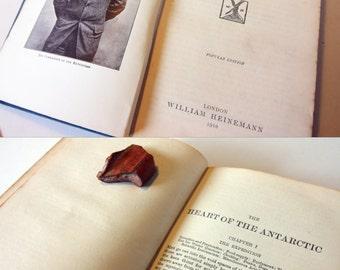 Shackleton Heart of the Antarctic 1910 Factual Illustrated adventure book Travel Hardback arctic exploration explorer