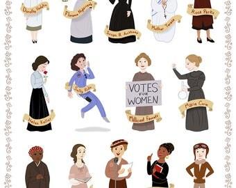 Women in History I, II, & III, 8x10