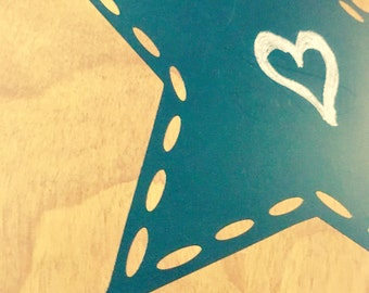 Dotted Star Chalkboard