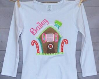 Gingerbread Boy or Girl Applique Shirt or Onesie Boy or Girl