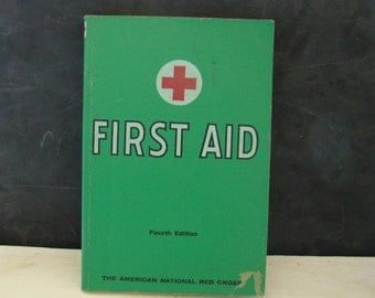 Vintage First Aid Book American National Red Cross 1968 Medical Text Book Manual 1968