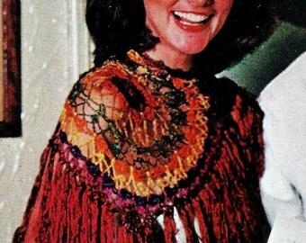 Gypsy Shawl Vintage Crochet Pattern Download