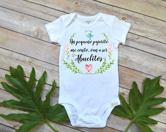 Spanish baby etsy spanish pregnancy reveal abuelitos baby gift to grandparents cute baby bodysuit cute negle Images