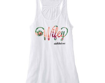 Wifey Tropical Honeymoon Tank Top, White Bride Tank Top, Honeymoon Shirt