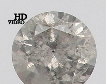 2.70 MM 0.073 Ct Natural Loose Diamond Cut Round Shape Fancy White Color L7484