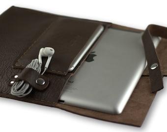 Handmade leather ipad case / NEW İPAD PRO 12.9'' \ Dark brown