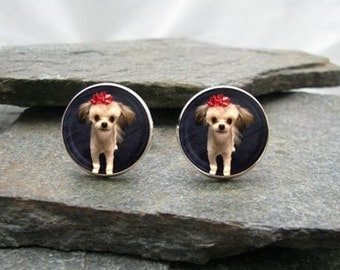 Custom Photo Earrings - any photo or text - Dangle or Stud earrings, personalized earrings, picture earrings, custom earrings