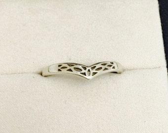 Vintage Sterling Silver Filigree Ring Band - Size 9.75 - 2.2 Grams