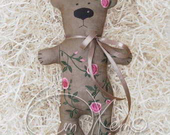 In the hoop MACHINE EMBROIDERY File - ITH roses Bear, Bear toy
