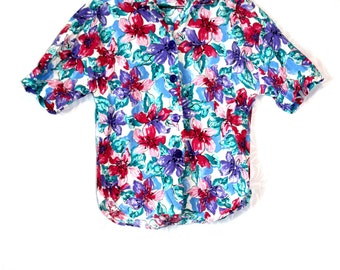 Bright and Colorful, Floral Shirt