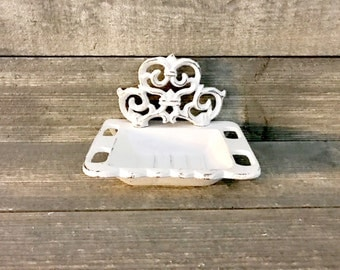Farmhouse Soap Dish - Toothbrush Holder - Shabby Chic Decor - Farmhouse Decor - Bathroom Soap Dish - Bathroom Decor