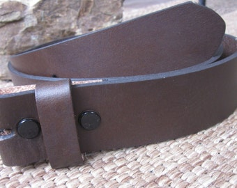 Size small 32 or Medium 34 brown full genuine leather belt strap 1.5 inch wide snap belt brown leather belt for interchangeable belt buckles