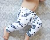 Tribal Feathers leggings - Baby Leggings,...