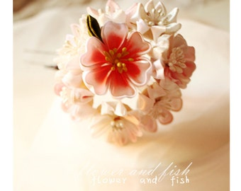 Janpanese kanzashi hair accessory-bridal hair stick, bridal hair pin, wedding hair pin, bridal hair flower-wedding hair pins