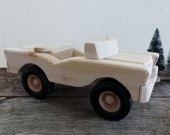 Wooden Convertible Toy Car-Handmade-Push Pull Toys-All Natural-Eco Friendly